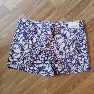 New York & Company purple & white shorts sz 10 NWT